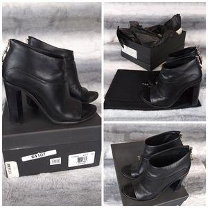 Rag & Bone Lottie Leather Block Heel Booties 6.5